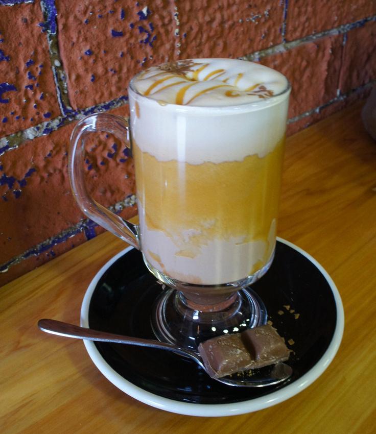 Hot chocolate at the Cadbury Factory in Dunedin