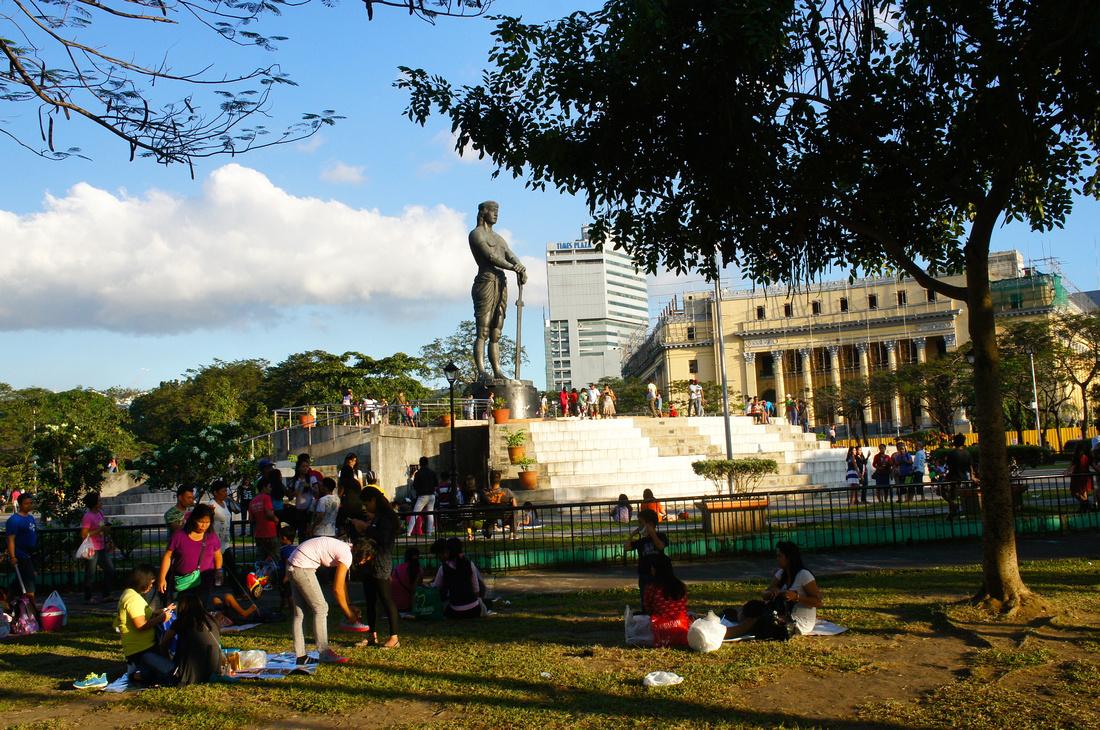 Lapu Lapu at the Rizal Park in Manila