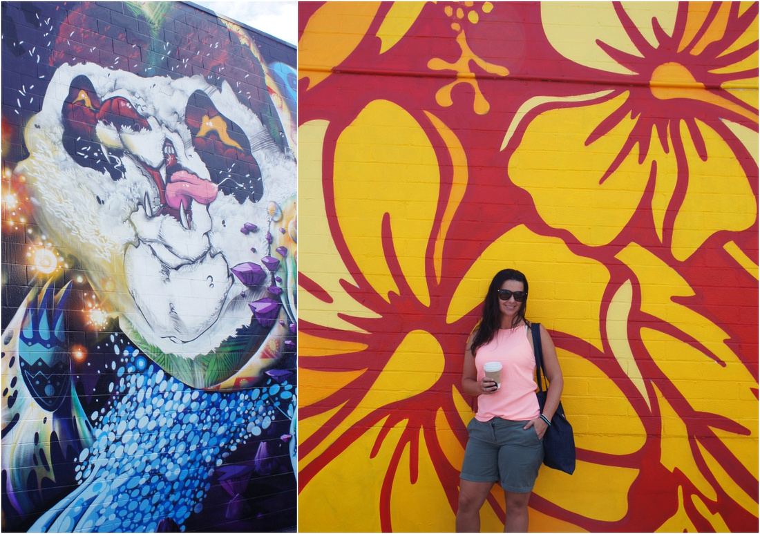PowWow graffitis and murals are a great spot for cool photos. On a side note, I miss my tan.