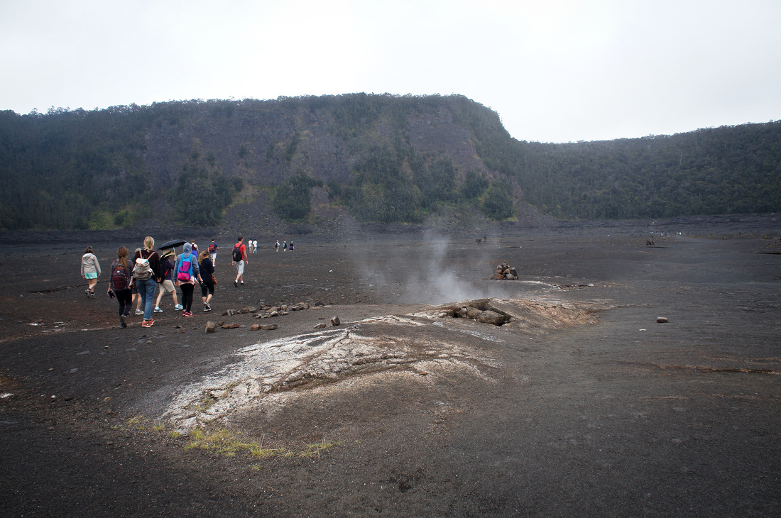 It's best to stay away from the steam vents on Kilauea Iki trail as the air can be hot and cause injuries. Sometimes nature is best admired from afar.