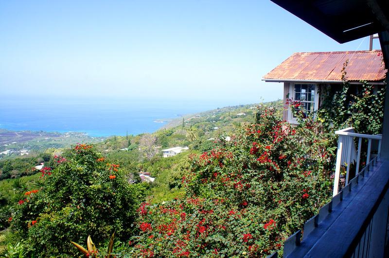 Coffee Shop provides for nice views of Kealakekua Bay.