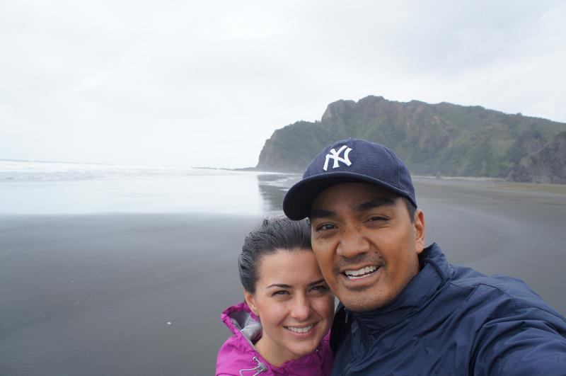 Black sand beach Karekare near Auckland, New Zealand
