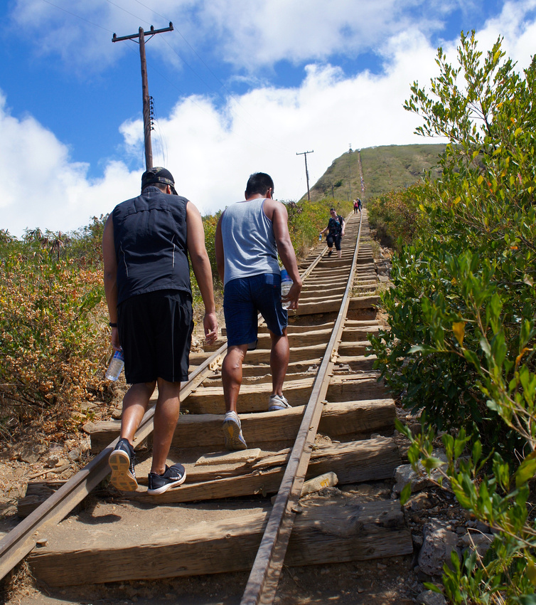 Climbing Koko Head Trail in Oahu