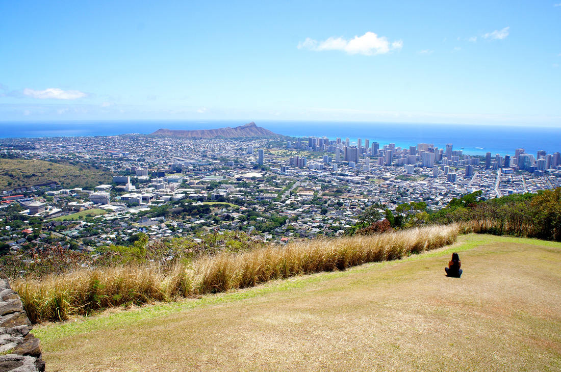 Another day well spent in paradise. Admiring views of Waikiki & surrounding areas from Tantalus Lookout Pu'u Ualaka'a State Park.