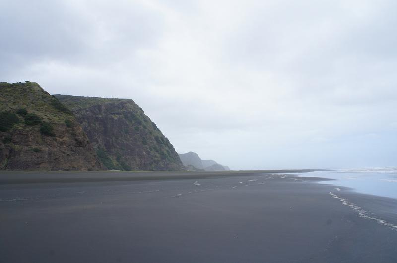 Black sand beach Karekare near Auckland, New Zealand.
