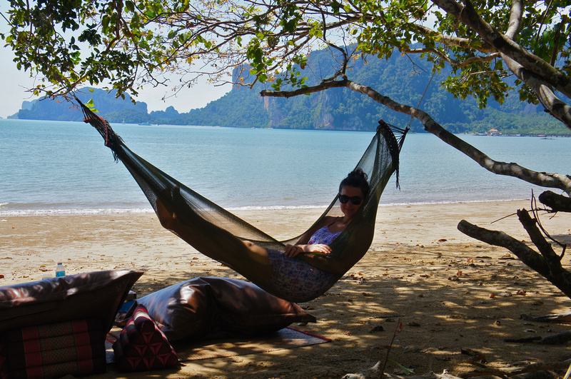 As suspected, chilling at a thai beach in a hammock proved to be very relaxing.