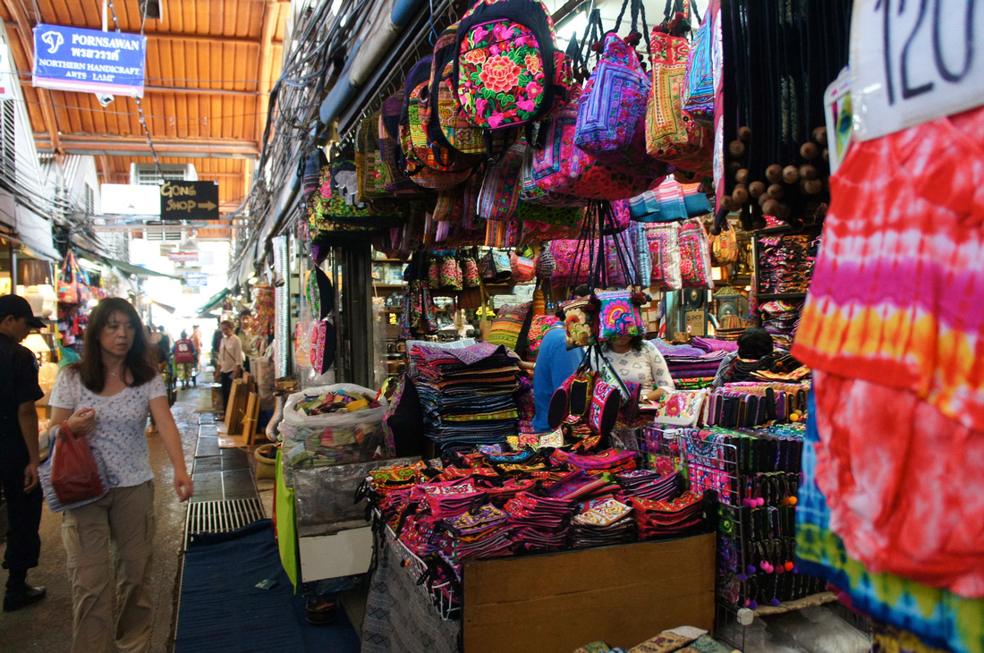 Colorful textiles and beautiful patterns caught my eye at the market.