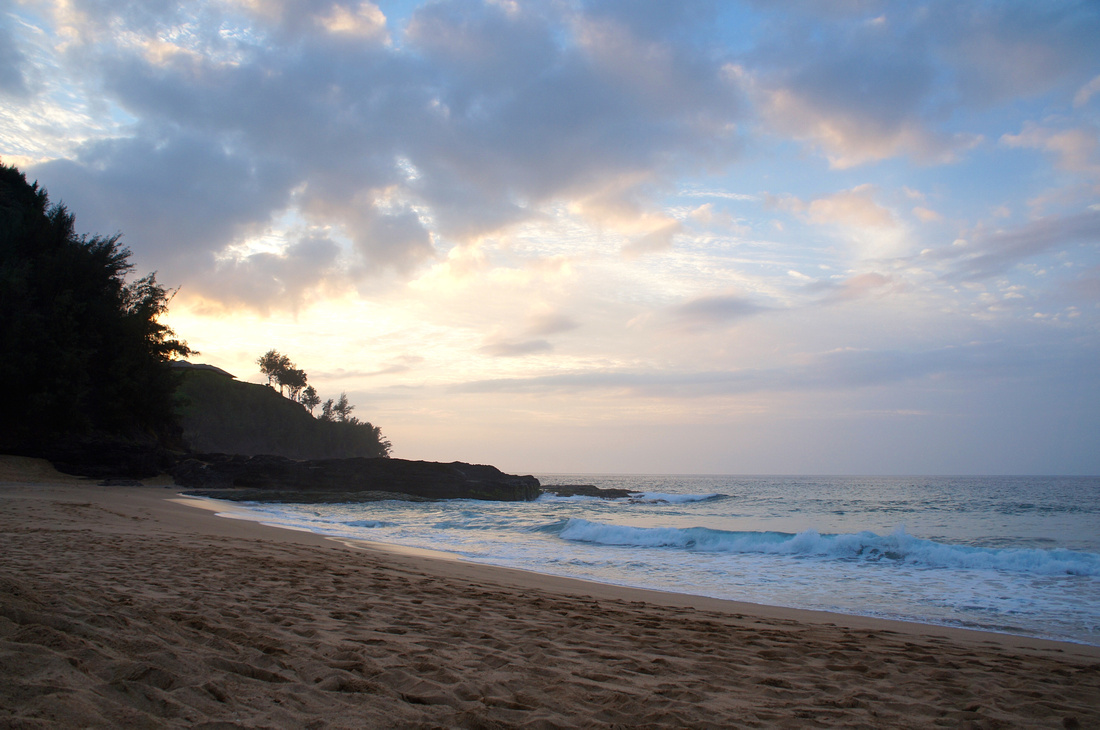 Secret Beach in Kauai, Hawaii