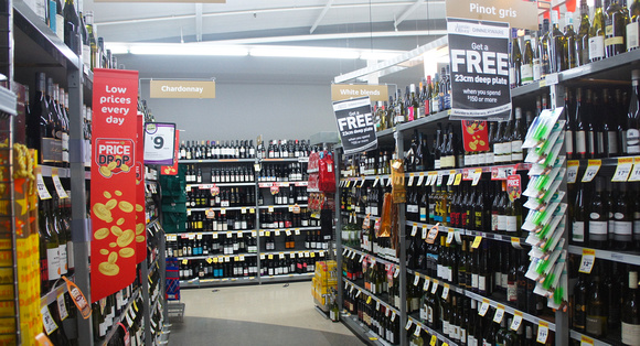 Grocery stores in New Zealand carry wine