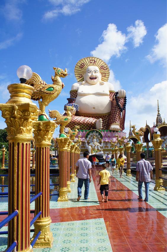 Laughing Buddha at Wat Plai Laem