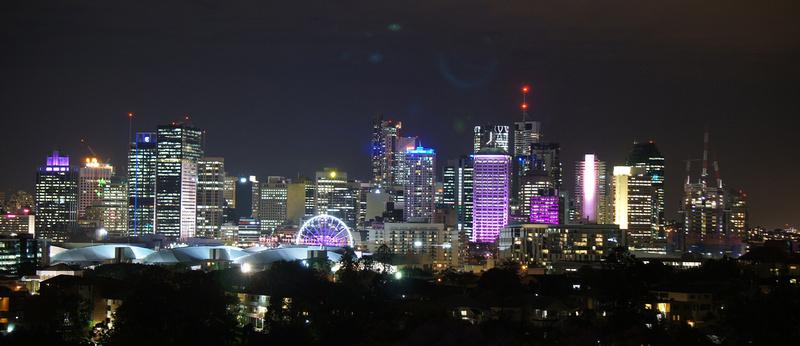 Brisbane skyline at night looked very impressive.