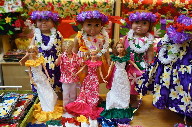 Hawaiian dolls at Dole Plantation
