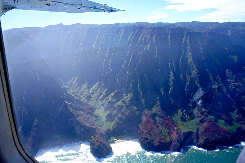 Flying over ridges, peaks, and valleys of the Napali Coast was an amazing experience.