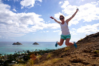 2.11.15 Lanikai Pillbox hike w/ Gabi