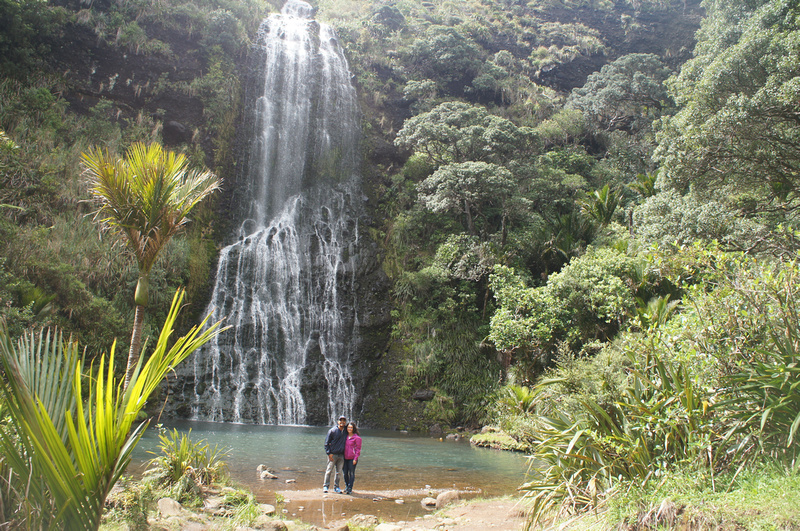 Karekare waterfall near Auckland, New Zealand