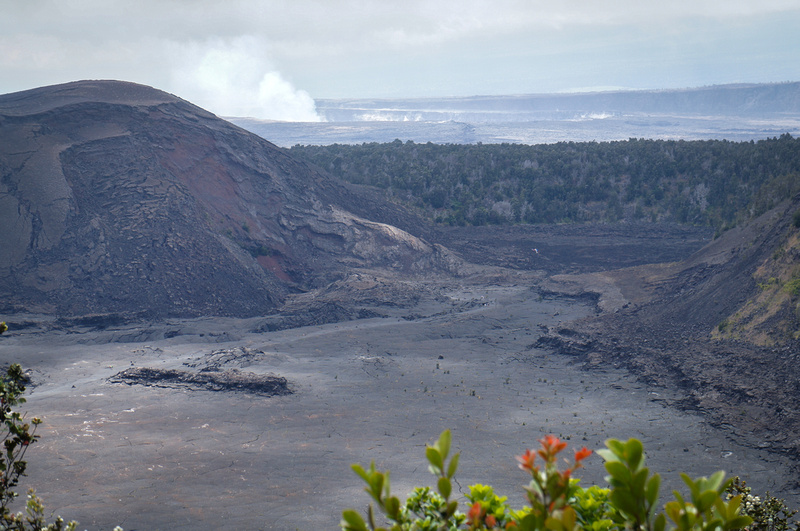 If you look closely you can see tiny people walking the Kilauela Iki Trail. Can you believe that less than 60 years ago this place was a green valley.