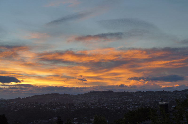 Sunset above Dunedin