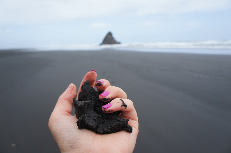 Black sand beach Karekare near Auckland, New Zealand - photo featured on CNN.
