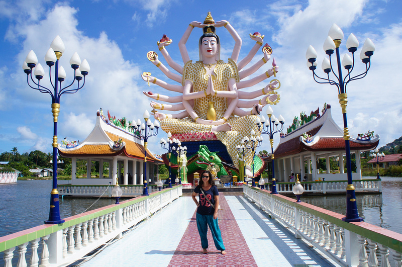 Guanyin Goddess of Mercy at Wat Plai Laem