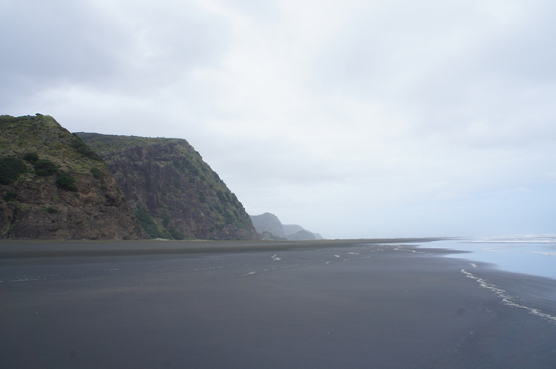 Black sand beach Karekare near Auckland, New Zealand.