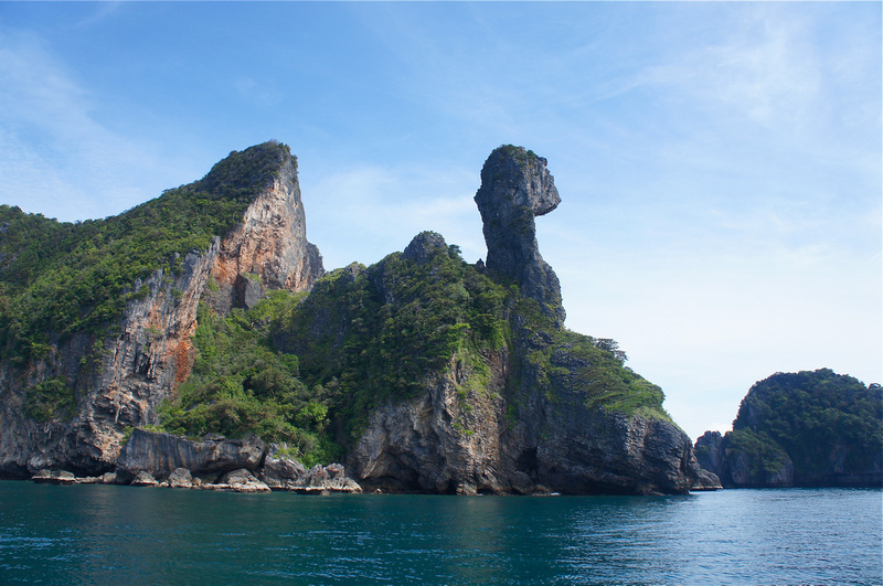 Chicken Island got its name from the rock formation that looks like a neck and head of a chicken; there are no chickens roaming this island.