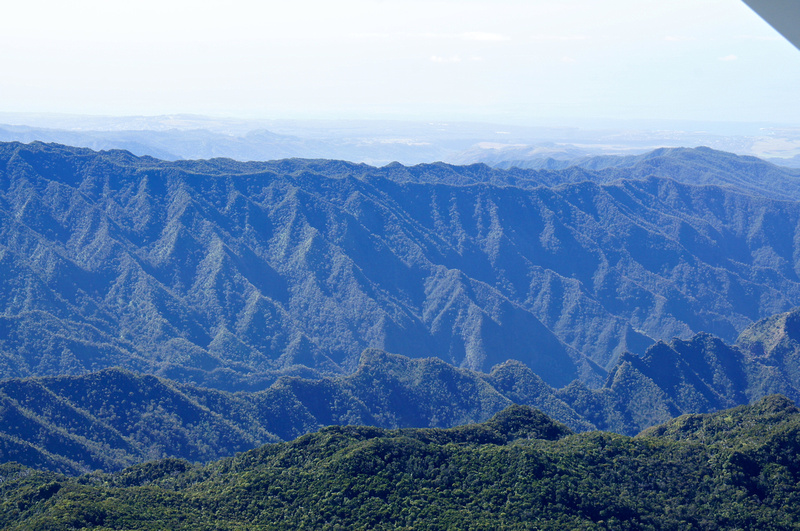 Mountain peaks upon mountain peaks.