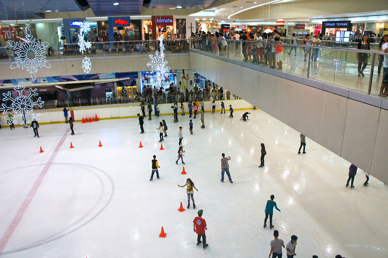 Ice rink at the Mall of Asia, Manila, Philippines