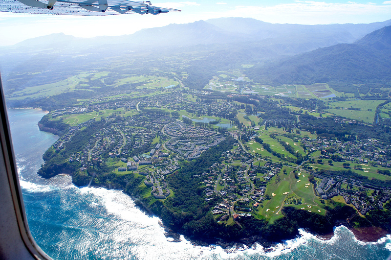 Princeville is an affluent community in the northern part of the island. It consists of beautiful houses and fancy golf courses. Talk about a location!