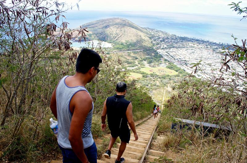 Steep stairs
