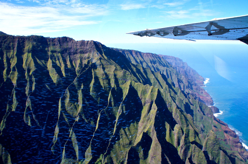 Seeing Napali Coast from the plane