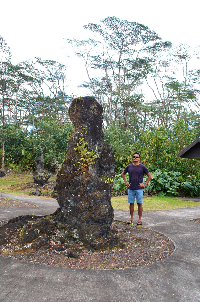 We visited the park to see tree monuments created by lava over 200 years ago.