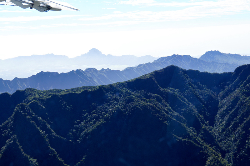 Flying over the mountains in Kauai was an amazing experience. Look at those peaks.