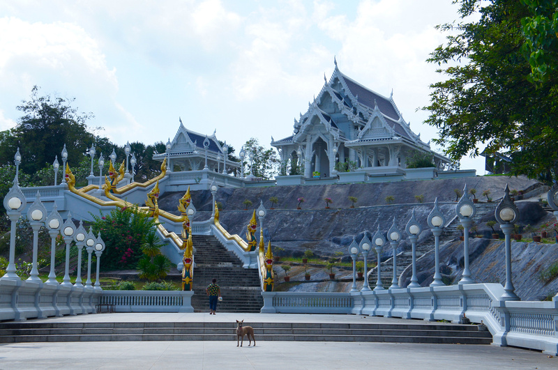 This temple looked beautiful from the outside. Unfortunately we were not able to get in because my shoulders were exposed. It is really hard to cover up in Thailand as the weather can be extremely hot.