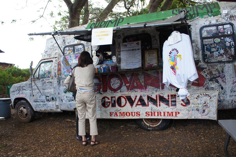 The original Giovanni's Shrimp Truck, Oahu, Hawaii
